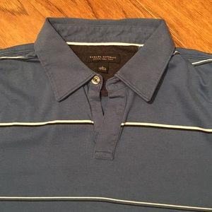Banana Republic blue striped polo shirt